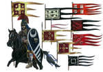 Flags/ battle standards of medieval Roman Empire