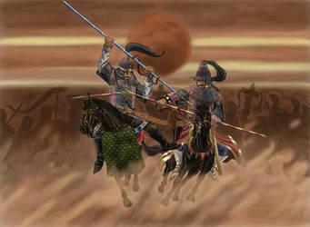 Alan vs Hun on  the Catalaunian Fields, AD 451 by AMELIANVS