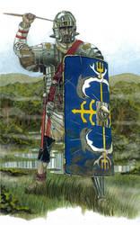 Infantryman of LEGIO X GEMINA 180 AD by AMELIANVS