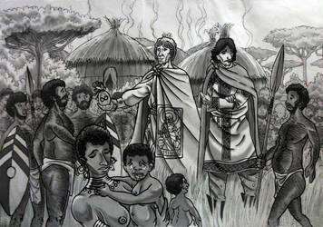 Roman embassy meets Pygmies by AMELIANVS