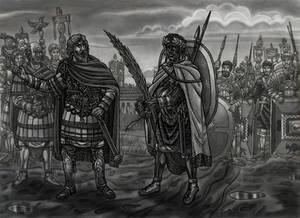 Ethiopian Roman soldier meets Emperor S.Severus