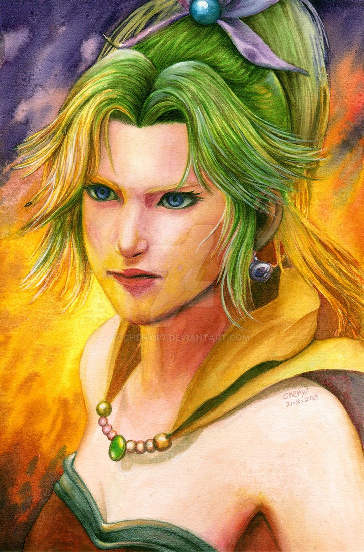 Terra Branford Final Fantasy 6 - watercolor by Chenyi87
