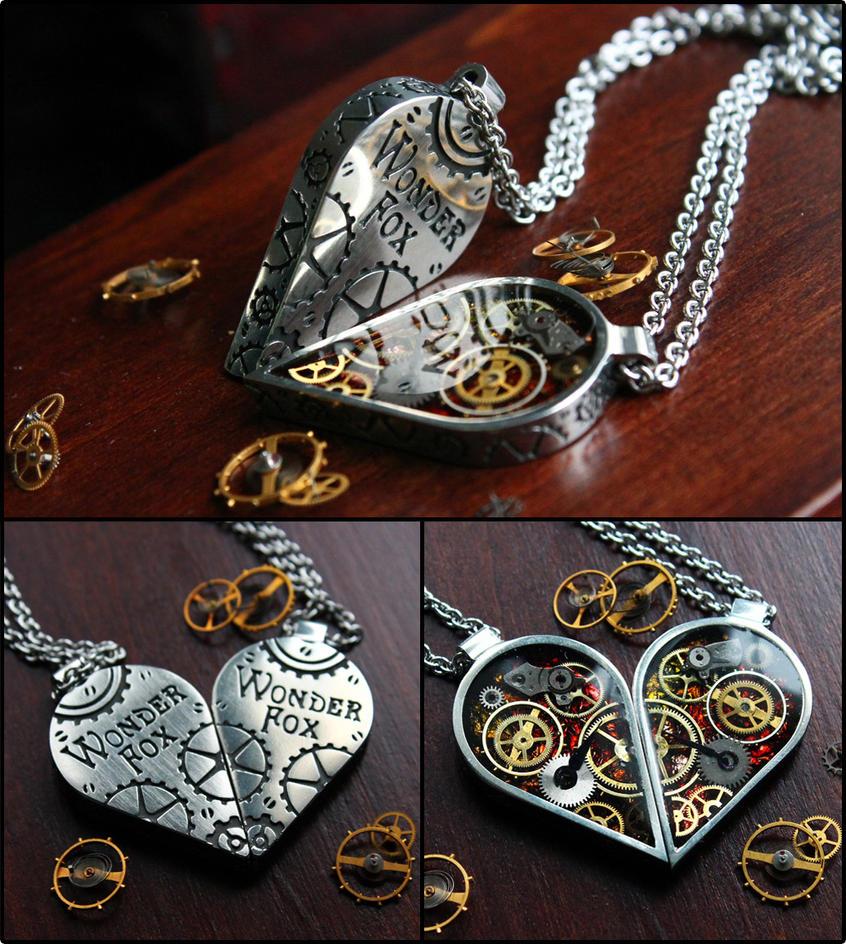 Half heart necklaces by Wonder-fox