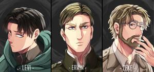 [Fanart] Shingeki no Kyojin - Levi, Erwin and Zeke