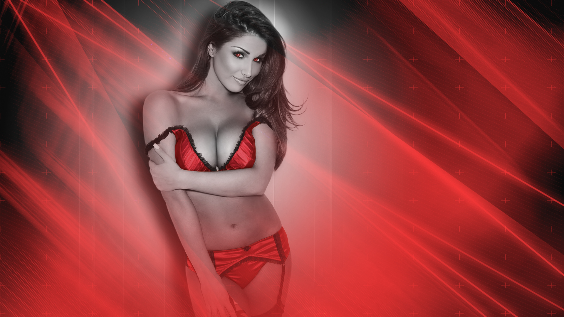 Red Lucy Pinder Wallpaper by iamsointense