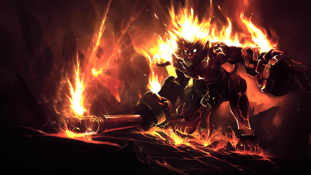 League Of Legends : Volcanic Wukong Wallpaper by iamsointense