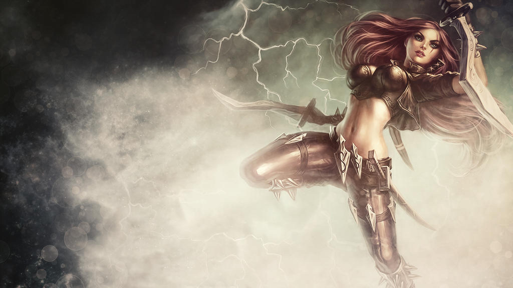 League Of Legends : Katarina Wallpaper by iamsointense