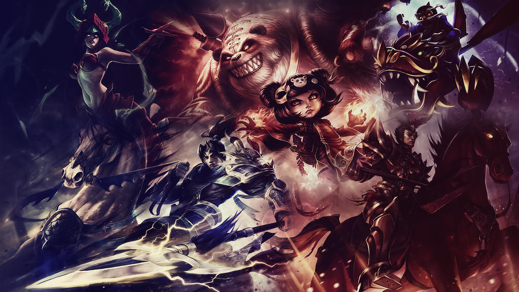 League of Legends : Chinese Wallpaper by iamsointense