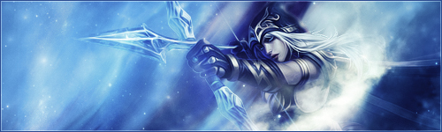 League Of Legends : Ashe Signature by iamsointense