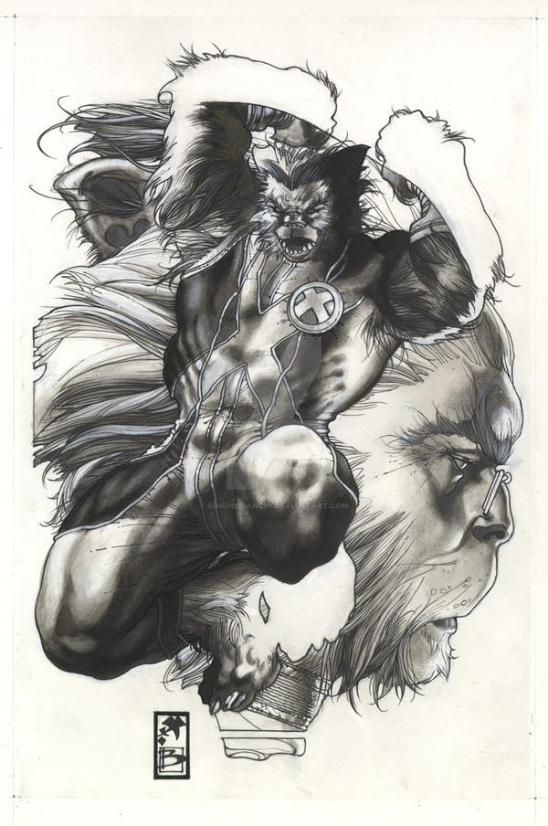 AST.XMEN  N 26 COVER BW by simonebianchi