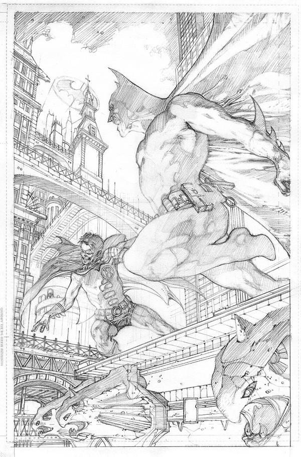 BATMAN  654 COVER PENCILS by simonebianchi