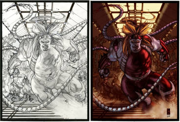 OMEGA RED pencils+colors by simonebianchi