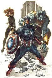 Secret Avengers cover by simonebianchi