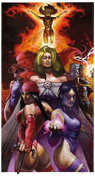 San DIEGO 2012 MARVEL GIRLS LITHO by simonebianchi