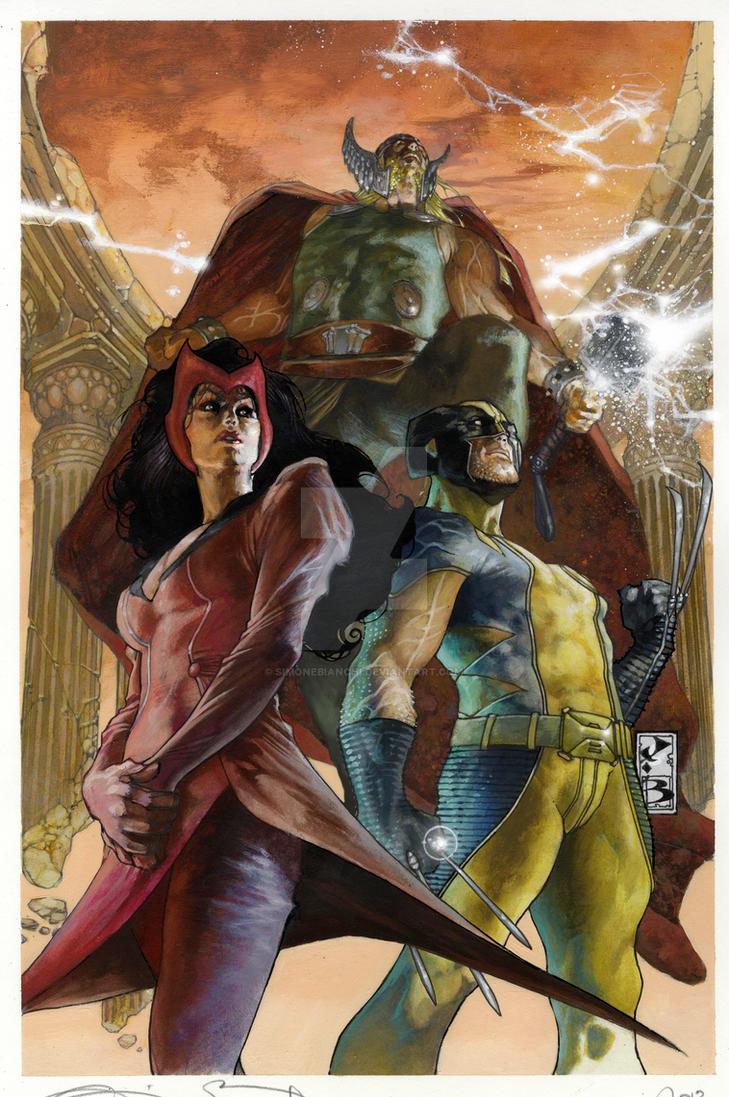 Uncanny Avengers Variant cover by simonebianchi