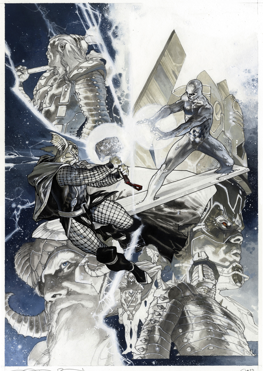 Simone Bianchi Thor Final issue cover by simonebianchi
