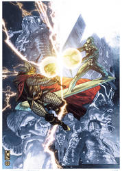 Simone Bianchi Thor final issue cover