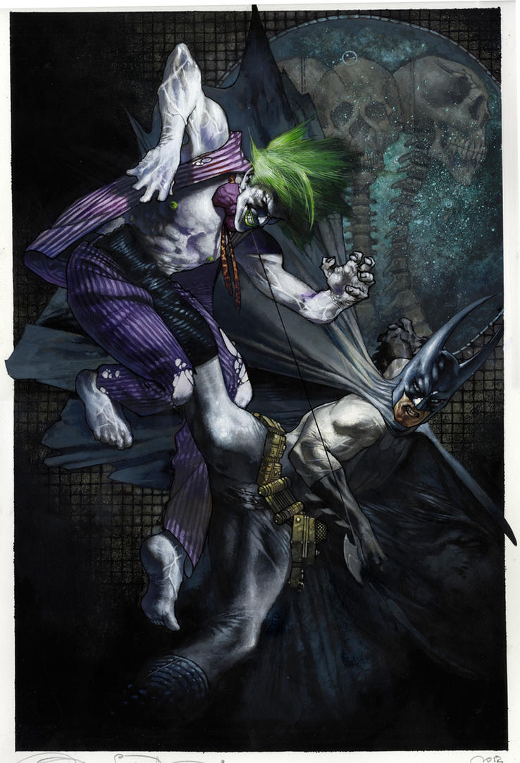 Batman vs Joker 2012 commission by simonebianchi