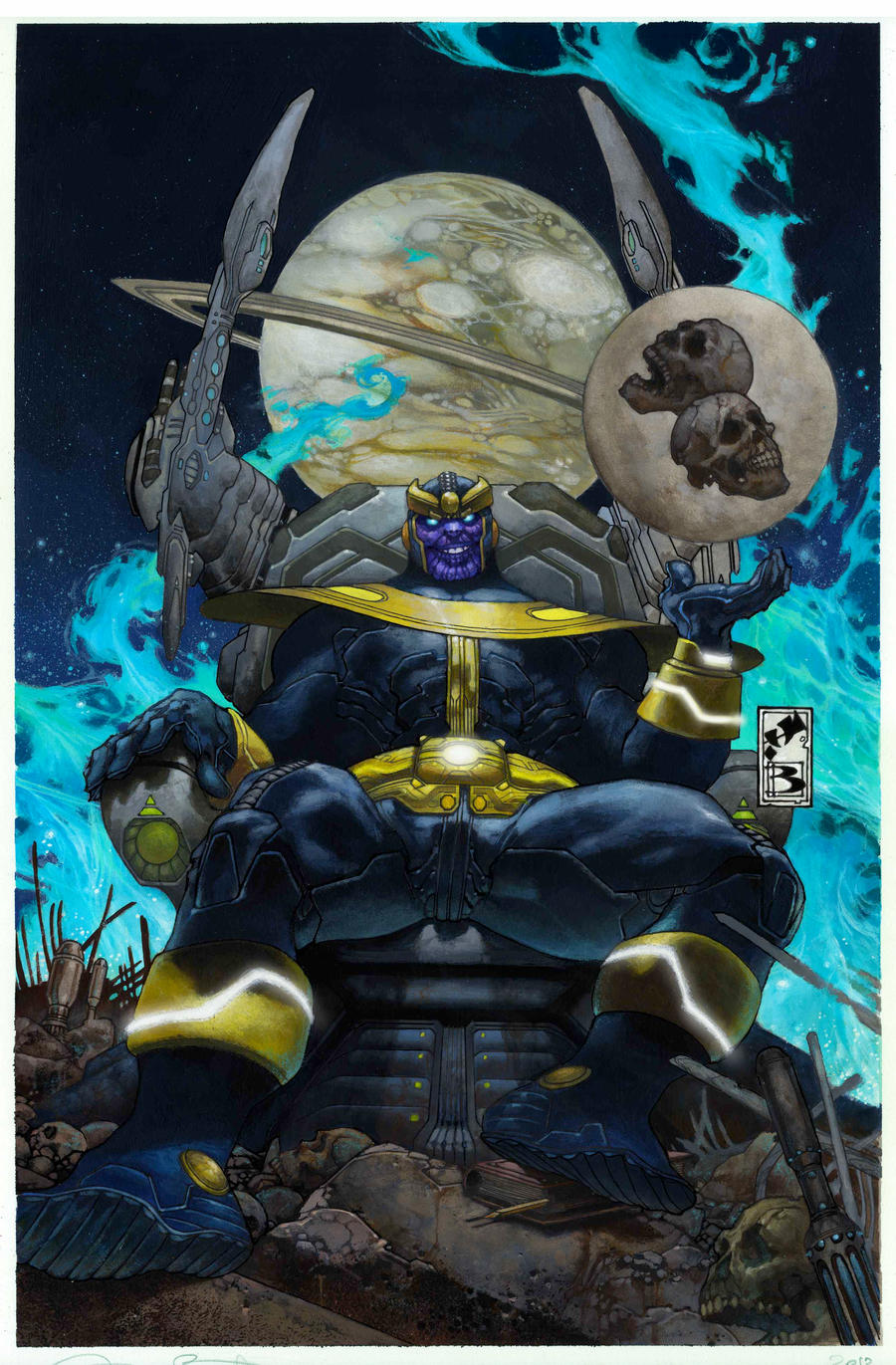 Simone Bianchi Thanos Cover issue 3 by simonebianchi