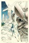 Thanos Rising # 1 cover pencil preliminary