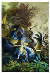 Simone Bianchi Thanos rising # 4 painted cover