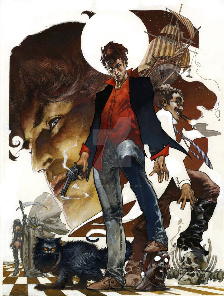 Dylan Dog color fest cover by simonebianchi