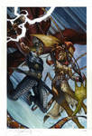 Thor and loki : the Tenth Realm painted cover