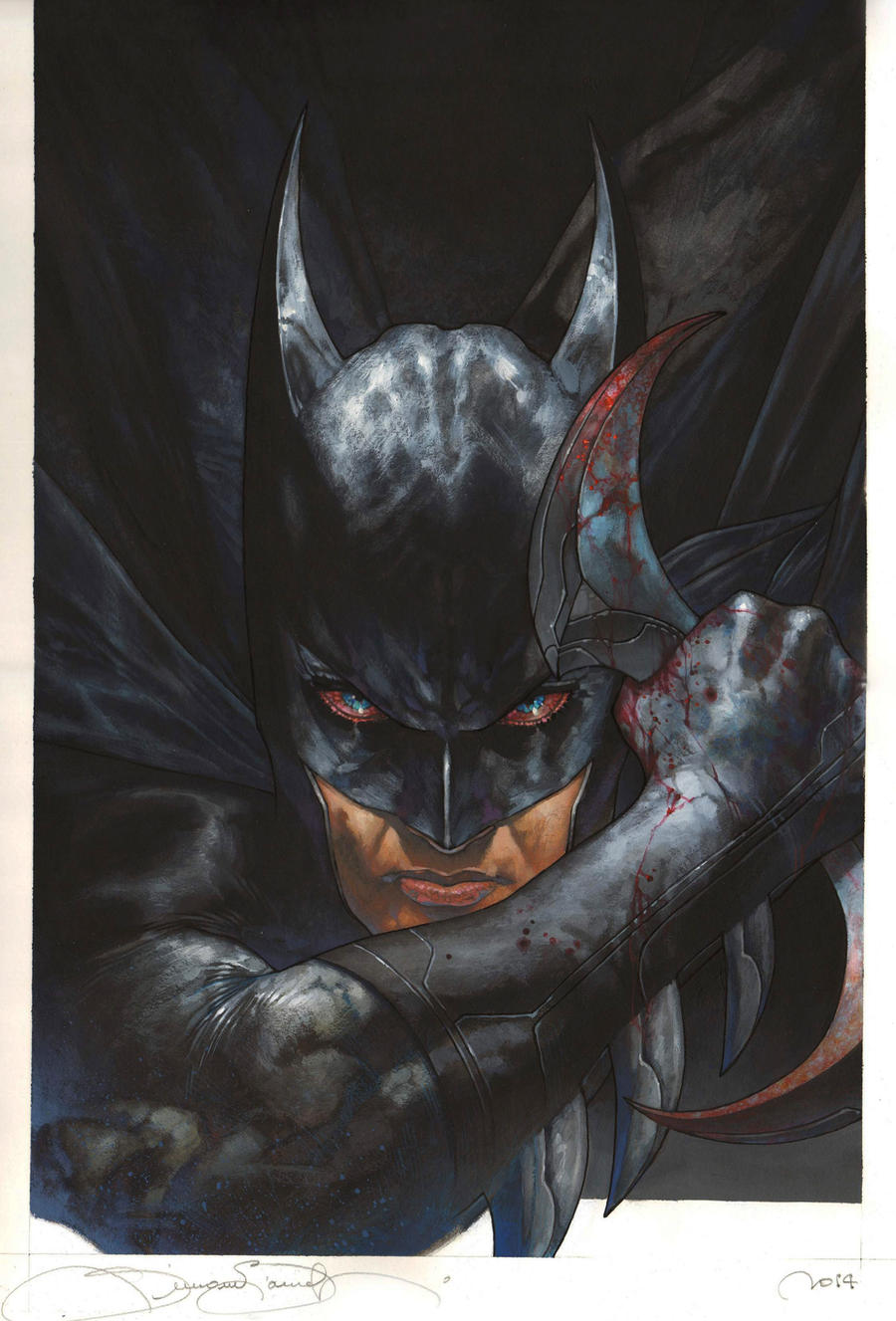 Batman full color SDCC commission by simonebianchi