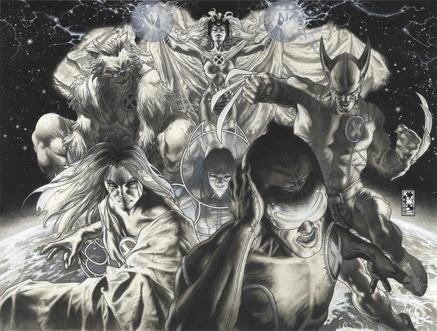 Astonishing X men 25 cover ink by simonebianchi