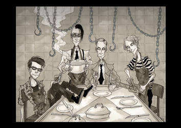 .: Dinner at the Mortuary II :. by AmbergrisComics