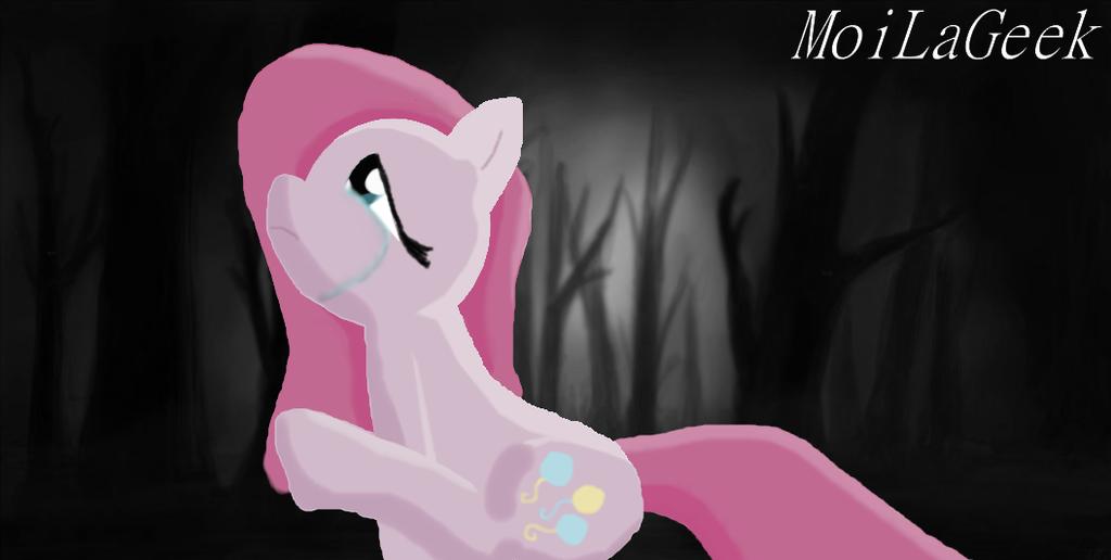 Sad pinkamena in the woods by MoiLaGeek on DeviantArt
