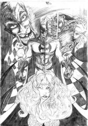 Batman and the others by BSarilar