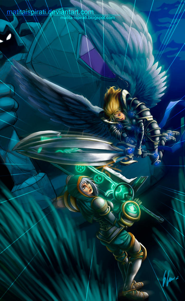 Redeemed Riven vs BattleBorn Kayle by GonzaloCumini