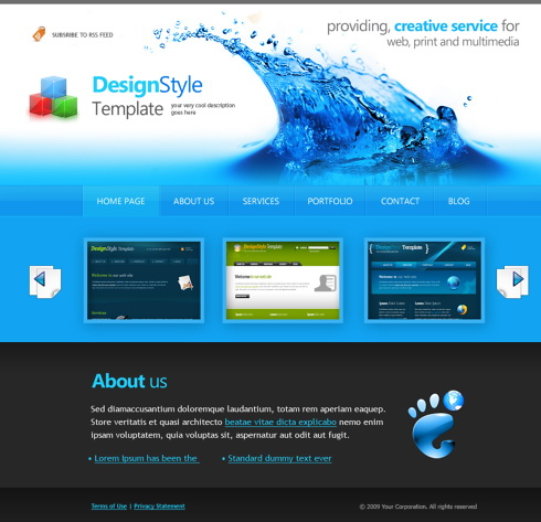 Free Website Template. online free website templates by webguru16 ...