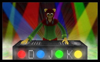 DJ K Droppin' Beats by AMKitsune