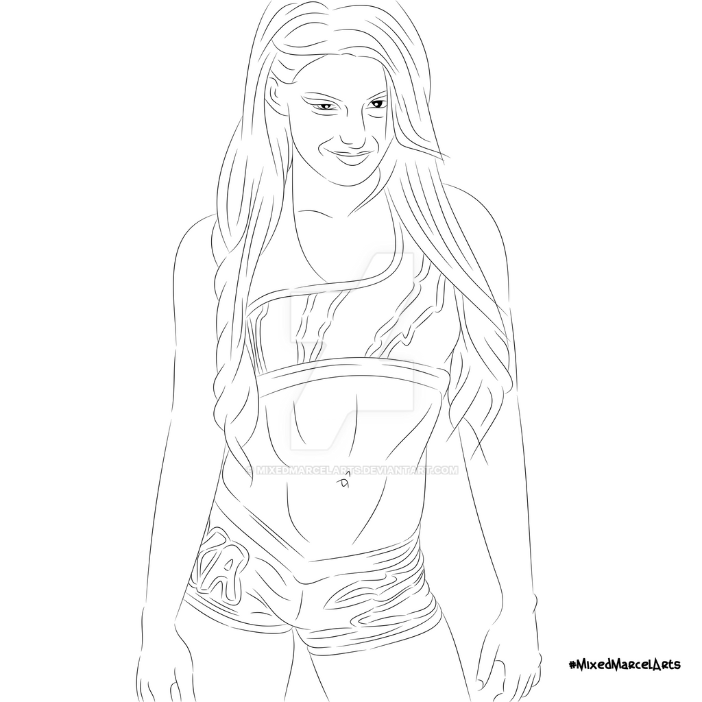 sketch of alexa bliss by mixedmarcelarts db7slz2
