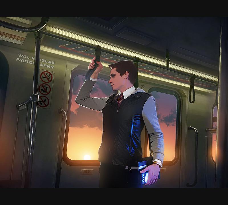 Train Ride Home by MRBee30