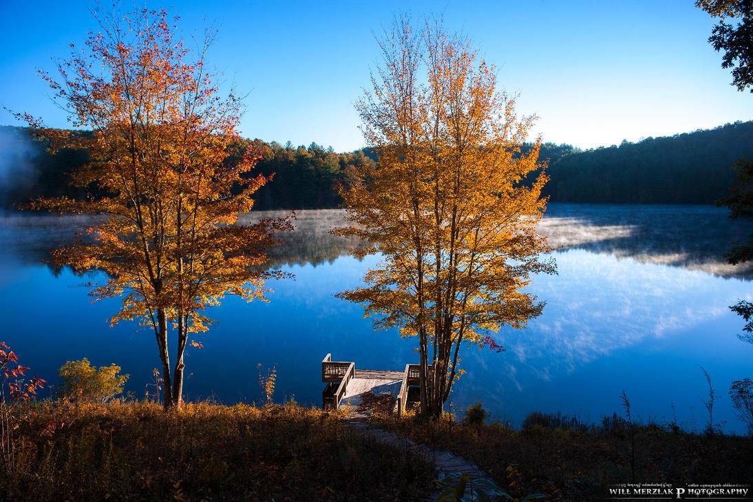 Morning lake by MRBee30