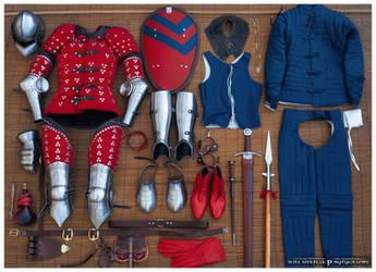14th Century Brigandine armor by MRBee30