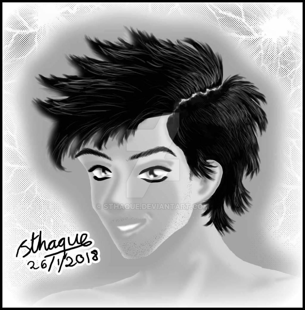 Grayscale Guy by sthaque