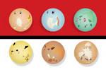 Minimalist Pokemon Button Set by ButtonMashers-jpg