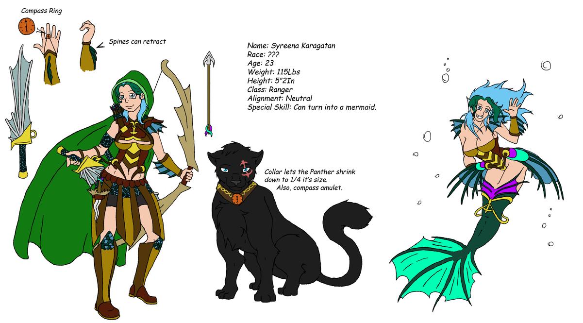 Syreena Karagatan D&D Character Sheet by crazymew