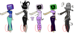 Aesthetic TV head adopts + One extra (CLOSED)