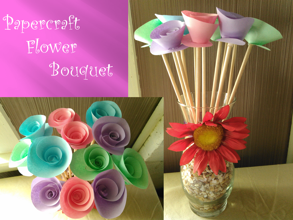 Mothers Day Gift Papercraft Flower Bouquet By Deidara Clone On