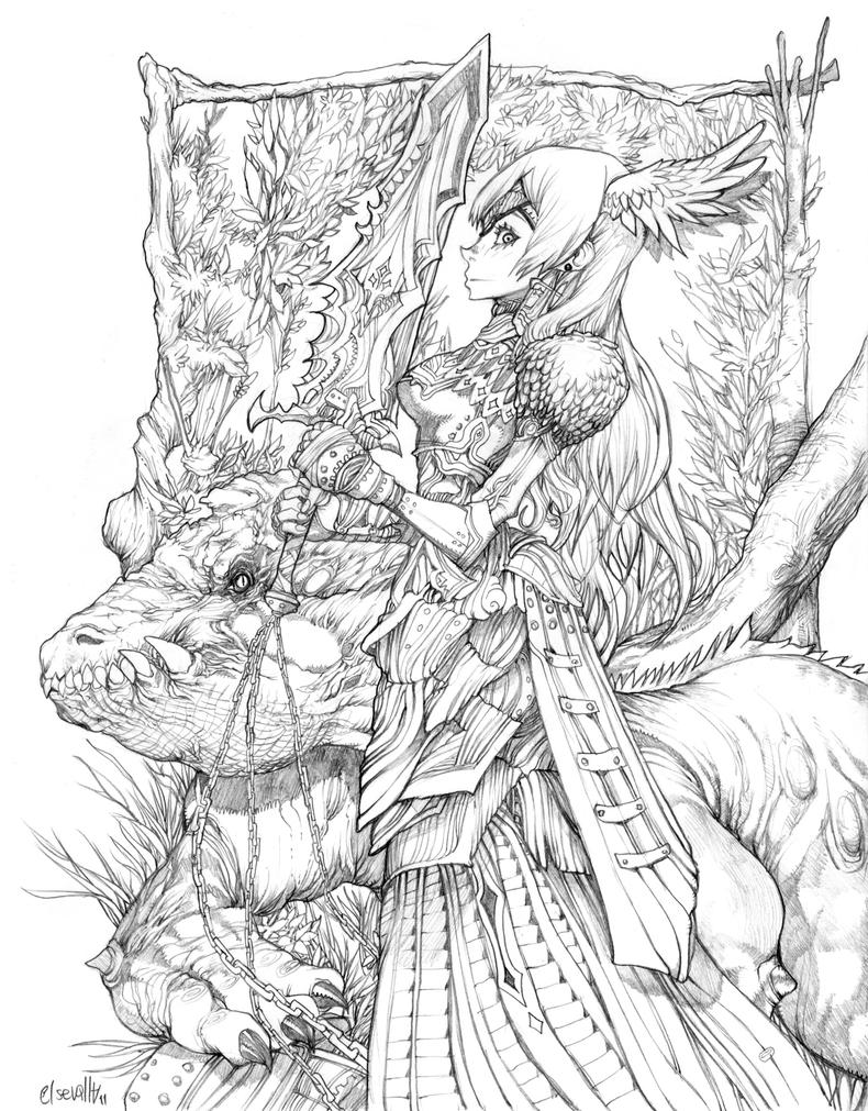 detailed dragon coloring pages - photo #4