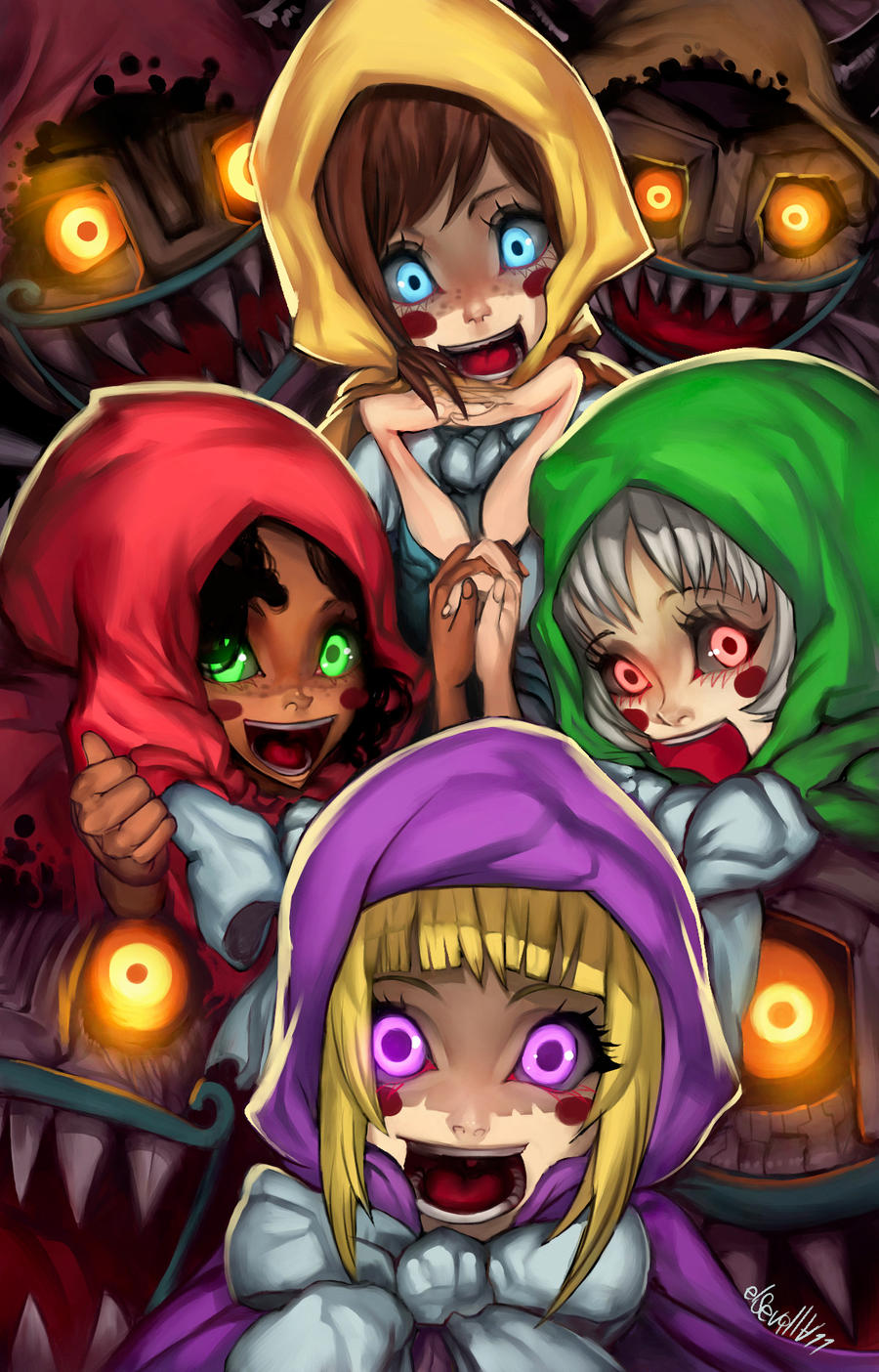 The Diabolical Cubus sisters by elsevilla
