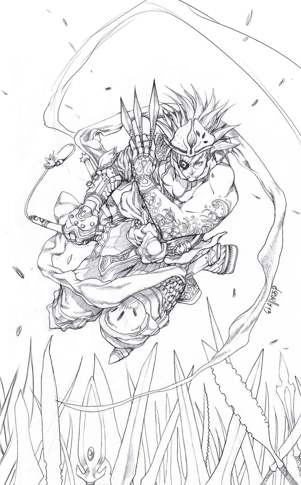 Goninja  sketch by elsevilla