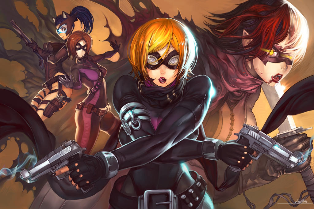 Guns and girls by elsevilla