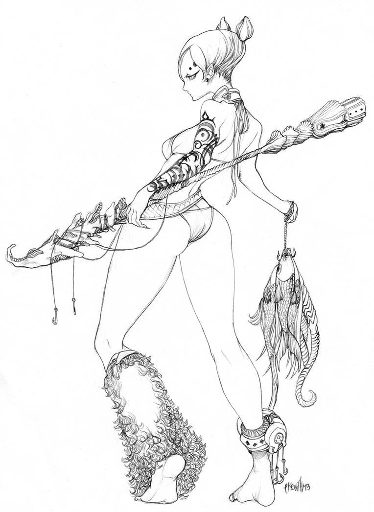 Fisherman Lady by elsevilla
