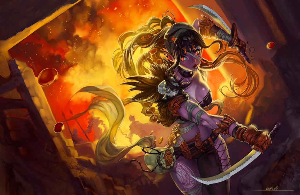 Dual-sword escape by elsevilla